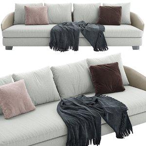 3D 1 minotti lawson sofa