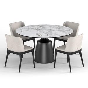 3D dining table cattelan italia