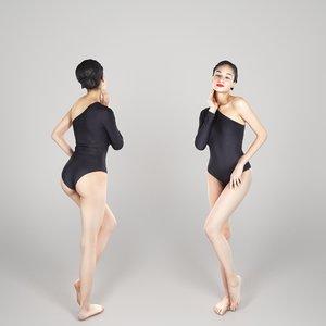 photogrammetry human young woman 3D model