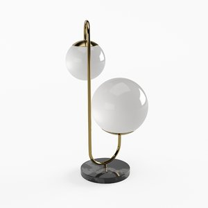 3D art déco lamp model