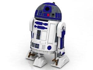 r2 d2 r2d2 star wars 3D model