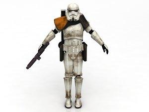 3D sandtrooper stormtrooper