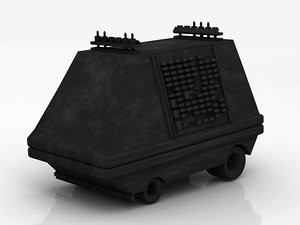 3D star wars mouse droid model