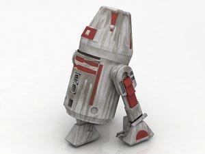 3D r4 squapper r2d2 droid model