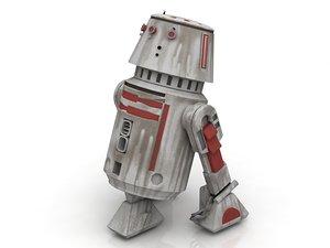 3D r5 squapper r2d2 droid