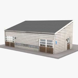 3D model european building 50
