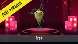 cartoon frog model