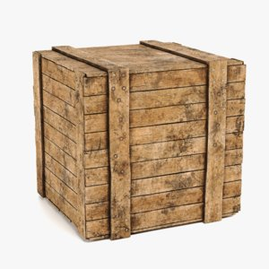 3D wooden crate contains