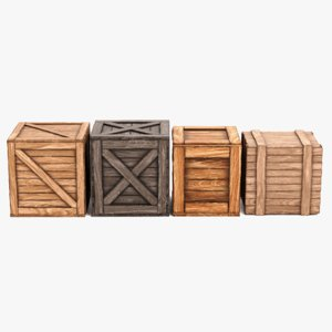 3D wooden crates contains