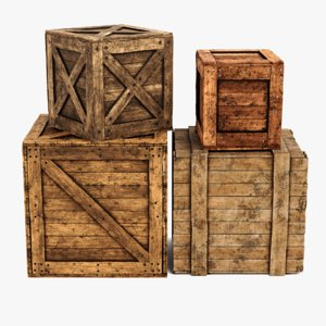 3D model wooden crates contains