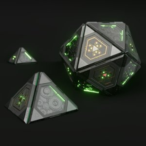 3D techno sphere