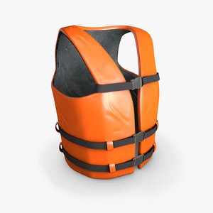 life vest lifevest 3D model