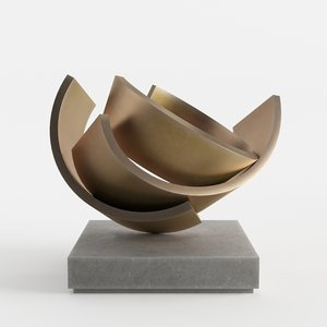 modern decorative abstract copper 3D