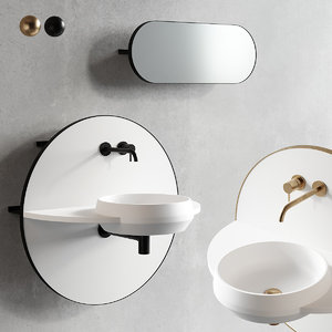 3D model console arco wall-mounted sink