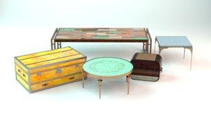 3D vintage tables model