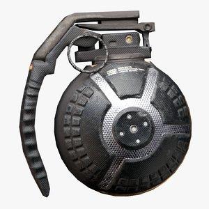 ready scifi grenade 3D model