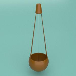 musical instrument ektara 3D model