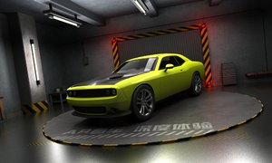 3D dodge challenger panoramic ar