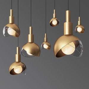 modern pendant light 3D model