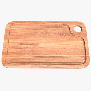 board wooden 001 3D