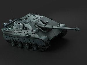 germany jagdpanther tank destroyer 3D model