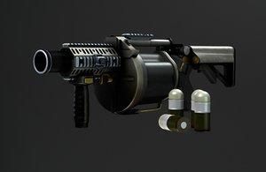 3D ics 190 grenade launcher
