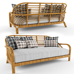 3D edgewater sofa serena lily model