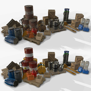 3D pack industrial warehouse -