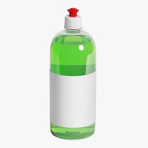 bottle 1000 ml 3D