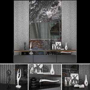 tv wall 3 3D model