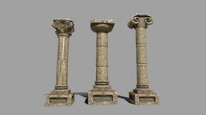 3D pillar set model