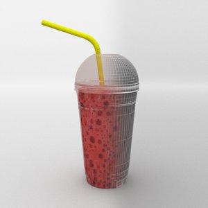 plastic glass 3D model