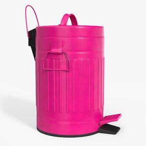 pedal trash bin contains 3D