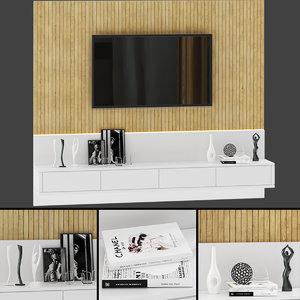 tv wall 5 3D model