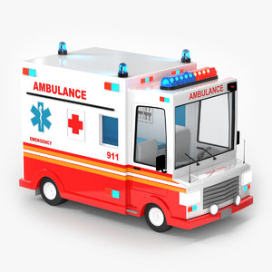 ambulance cartoon car model