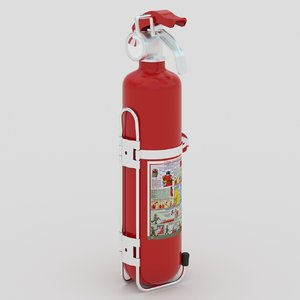 3D powder extinguisher stand model
