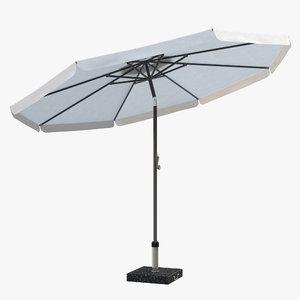 antigua parasol 3D