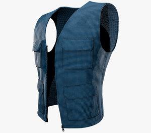 3D casual vest style 1 model