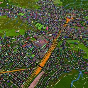 road building architecture city 3D model