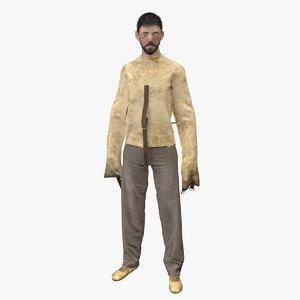 3D model psycho patient rigged