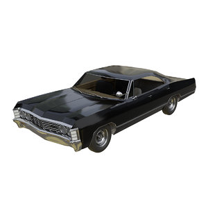 3D modeled impala 1967 chevrolet model