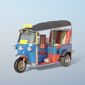 low-poly auto vehicle 3D model