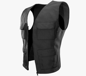 casual vest style 2 3D model