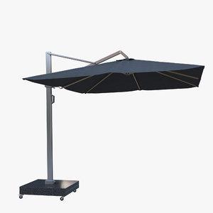 parasols icon outdoor umbrella 3D model