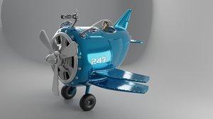 3D airplane aircraft art model