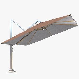 parasols icon outdoor 3D model