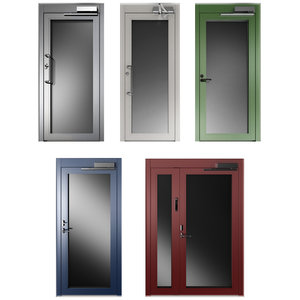 metal swing doors 3D