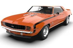 3D chevrolet camaro 1969 ss