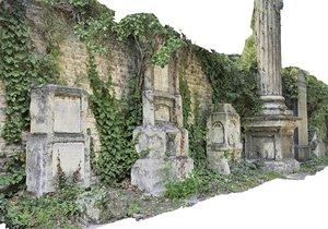 cemetery wall hd 3D model
