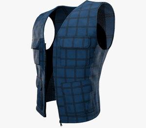 casual vest style 3 3D